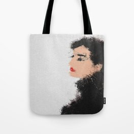 Audrey Hepburn Abstract Painting Tote Bag