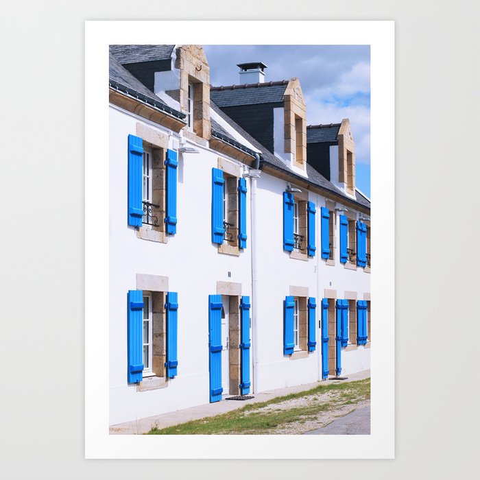 216. House of Blue, Britain, France Art Print