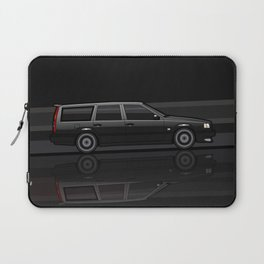 Volvo 850R 855R T5 'Swedish Turbo Wagon' Black Speed Stripes Laptop Sleeve