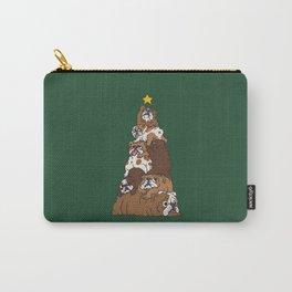 Christmas Tree English Bulldog Carry-All Pouch
