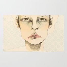 """portrait of anybody"" Rug"