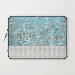 Urban Grunge Turquoise Cement Snake Skin Tile Laptop Sleeve