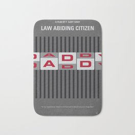 No738 My Law Abiding Citizen minimal movie poster Bath Mat