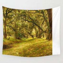 Yellow morning in Georgia Wall Tapestry