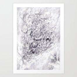 Smoke Sword Art Print