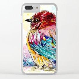 Chubby Baby Bird Clear iPhone Case