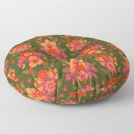 Mystic Flowers of Paradise [GREEN] Floor Pillow