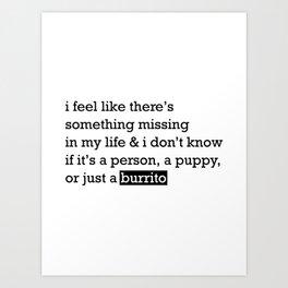 Dreaming of Burritos Art Print