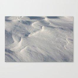 April snow drifts Canvas Print