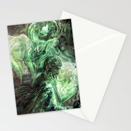 Green Healing Light Stationery Cards