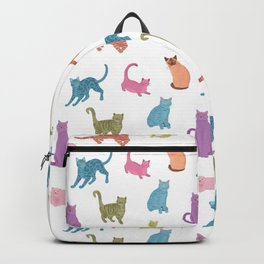 Colourful cats pattern Backpack