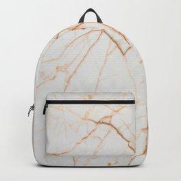 stylish minimalist trendy chic rose gold white marble Backpack