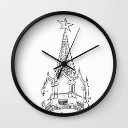 Kremlin Chimes- white Wall Clock