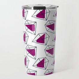 Contrast violet hexagons Travel Mug
