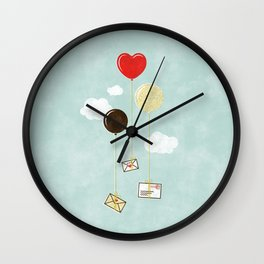 Love Letters by Air Mail Wall Clock