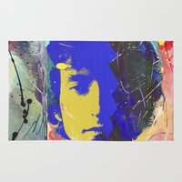 bob dylan Area & Throw Rugs featuring bob dylan by manish mansinh