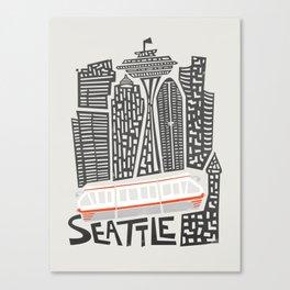 Seattle Cityscape Canvas Print