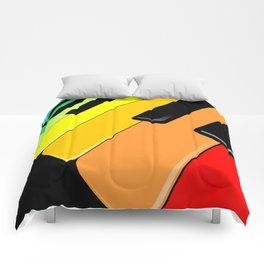 Piano Keyboard Rainbow Colors  Comforters
