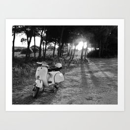 Yellow Vespa 2 Art Print