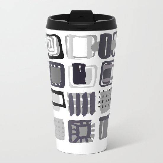 pattern 21 Metal Travel Mug