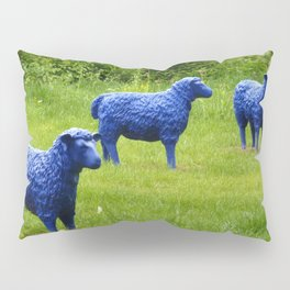 blue sheep Pillow Sham