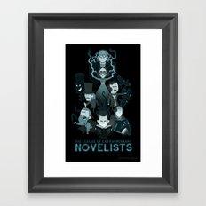 Extraordinary Novelists Framed Art Print