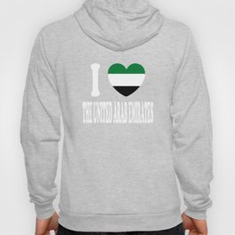 I Love  United Arab Emirates Hoody