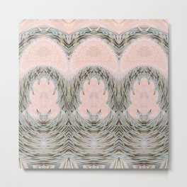 Mandalic Storm Mirror Pattern 1 Metal Print