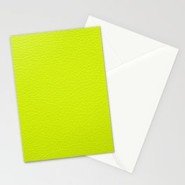Lime green leather texture Stationery Cards