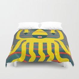 The calamari yellow Duvet Cover