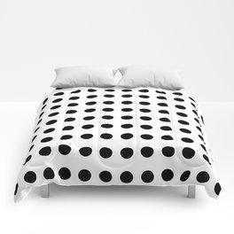 Popular Pattern - Polka Dot in monochrome ;) Comforters