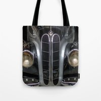 bmw Tote Bags featuring Old BMW by Cozmic Photos