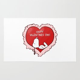 Snoopy Valentines Day Rug