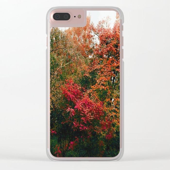 Autumn in the Garden Clear iPhone Case