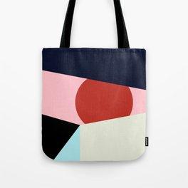 Circle Series - Red Circle No. 1 Tote Bag