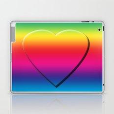 One Heart Rainbow Laptop & iPad Skin