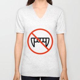 EEP!  No Bitey!!! Unisex V-Neck