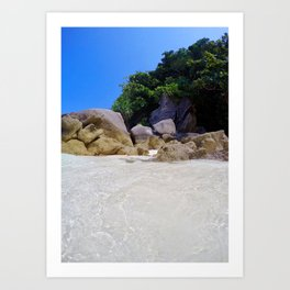 Similan Rocks Thailand Art Print