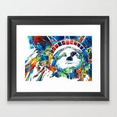 Colorful Statue Of Liberty - Sharon Cummings Framed Art Print