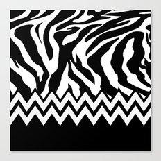Zebra Chevron Canvas Print