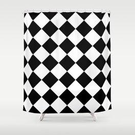 Diamond Black & White Shower Curtain