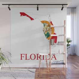 Florida-flag-map Wall Mural
