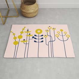 very graphis flower - rosé Rug
