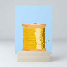 Yellow Spool Of thread Mini Art Print