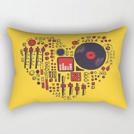 Music in every heartbeat Rectangular Pillow