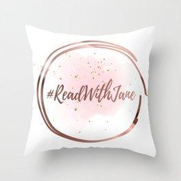 #ReadWithJane Logo Throw Pillow