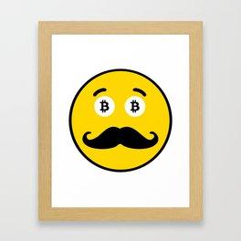 Mr. Bicoin Mustache Framed Art Print
