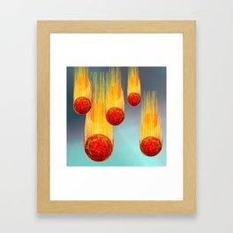 Cosmic bombs Framed Art Print