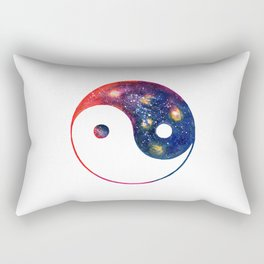 Yin Yang Symbol Watercolor Rectangular Pillow