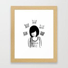 Friggin' Cats Framed Art Print